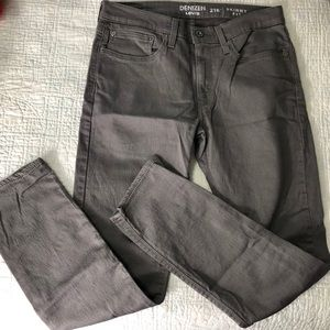 #1040 LEVI'S DENIZEN 216 SKINNY FIT  GRAY JEANS